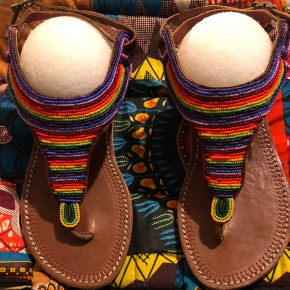 444493ecbcbce Colorful Maasai Sandals Boutique